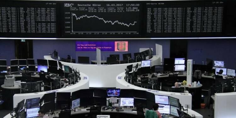 Les Bourses européennes terminent en hausse