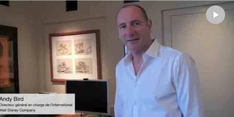 Dans le bureau enchanté d'Andy Bird, DG en charge de l'international de Disney