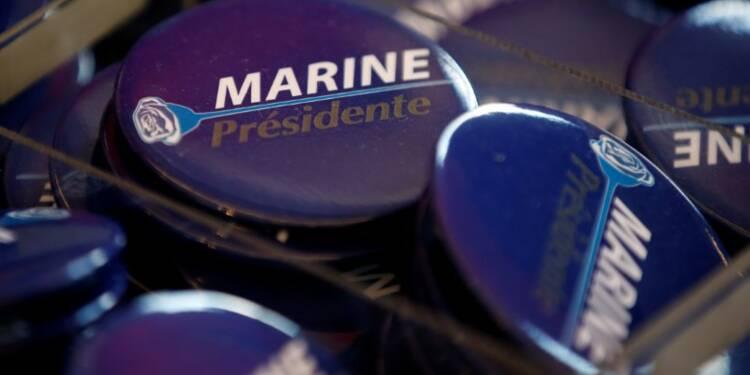 Le Pen progresse, Macron se maintient, Fillon résiste, selon un sondage Opinionway