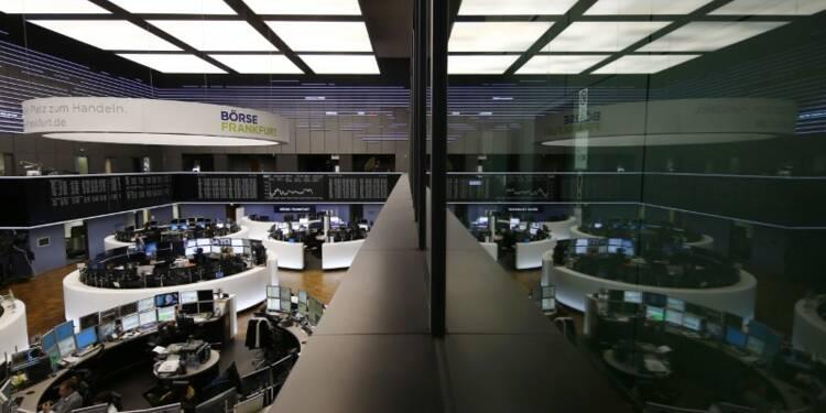 Les Bourses européennes dans le rouge à mi-séance