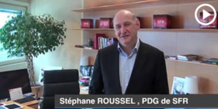 Dans le bureau de Stéphane Roussel, Pdg de SFR