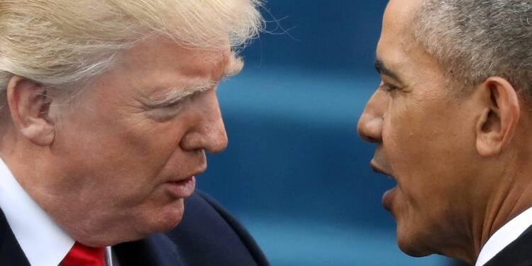 """Trump accuse Obama de l'avoir fait écouter et le traite de """"pauvre type"""""""