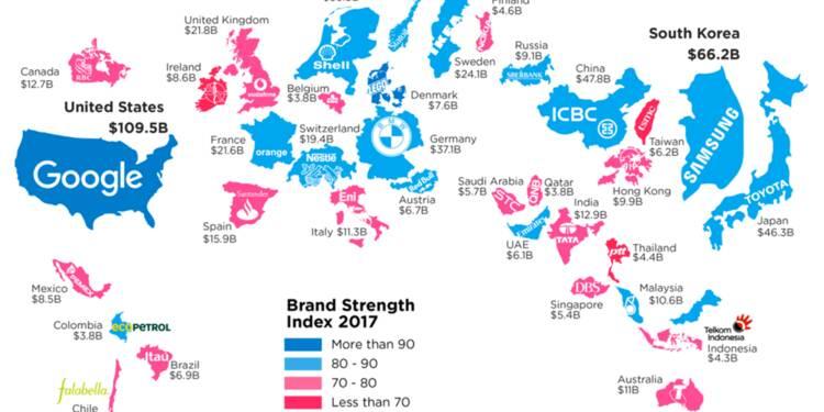 INFOGRAPHIE : Les marques les plus importantes par pays