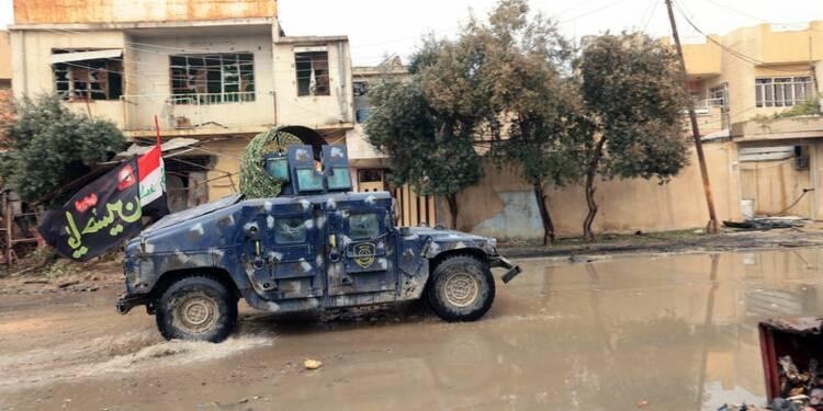 Les forces irakiennes face à la résistance de l'EI à Mossoul