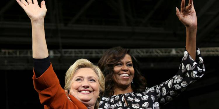 Michelle Obama et Hillary Clinton à leur 1er meeting commun