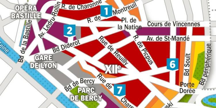 Immobilier : la carte des prix dans les 11ème et 12ème arrondissements de Paris