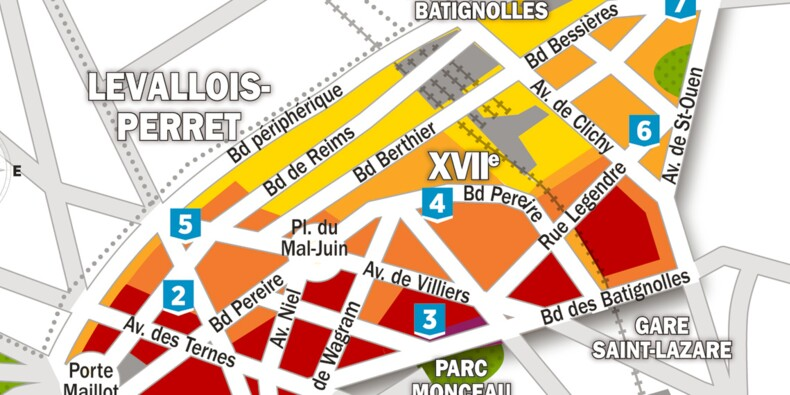 Immobilier : la carte des prix dans le 17ème arrondissement de Paris