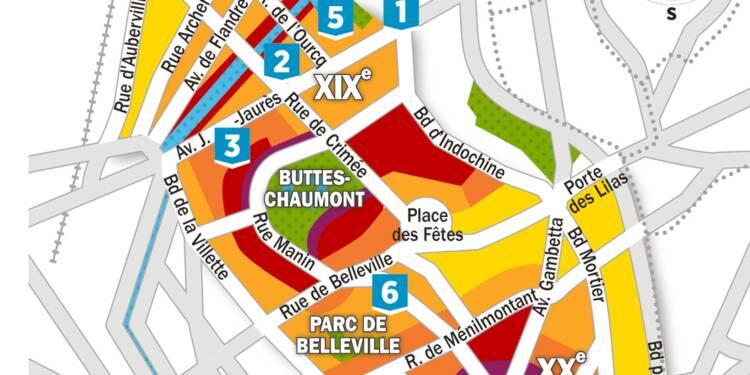 Immobilier : la carte des prix dans les 19ème et 20ème arrondissements de Paris