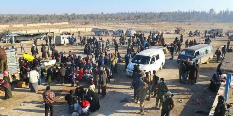 Douze mille civils ont pu quitter Alep-Est, dit la Turquie