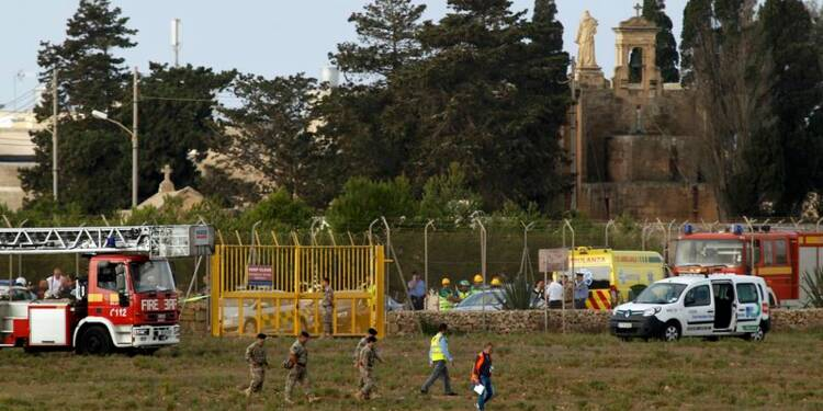 Cinq Français meurent dans un accident d'avion à Malte