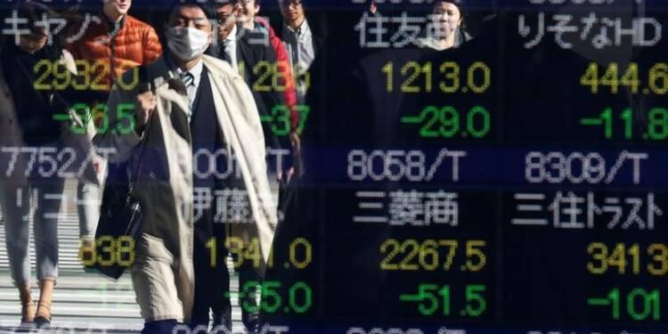 La Bourse de Tokyo près d'un pic de neuf mois