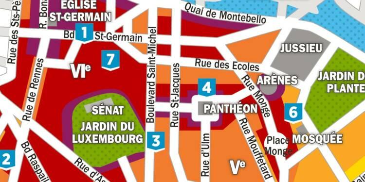 Immobilier la carte des prix dans les 5 me et 6 me for Agence immobiliere 6eme arrondissement paris