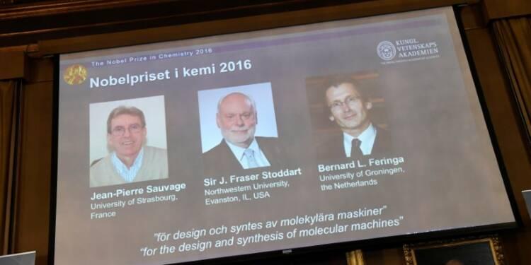 Le Nobel de chimie à trois chercheurs, dont un Français