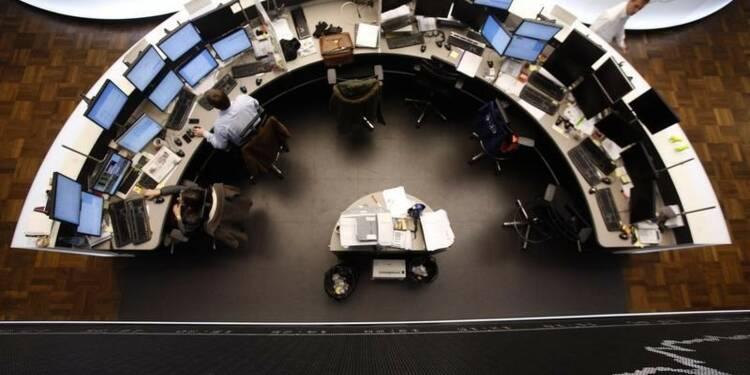 Les Bourses européennes toujours négatives à mi-séance