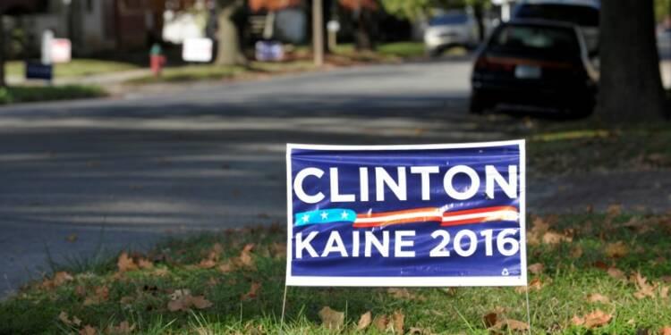 Clinton en tête dans la course aux grands électeurs