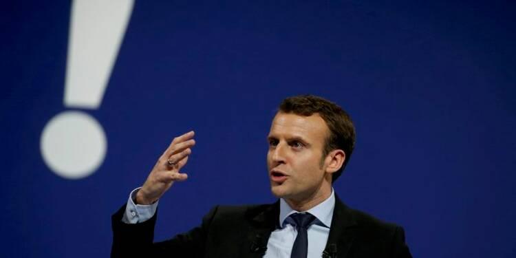 Première conférence de presse du candidat Macron