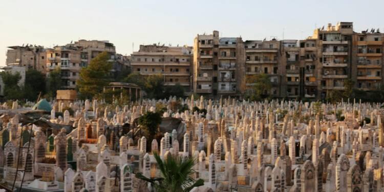 A Alep, moins de raids aériens mais des combats nourris