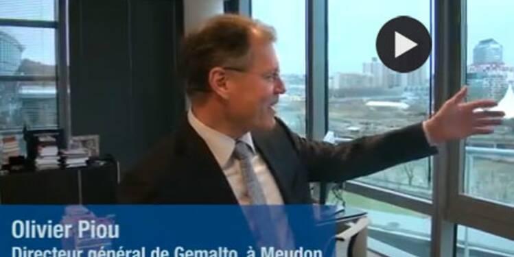 Dans le bureau d'Olivier Piou, directeur général de Gemalto