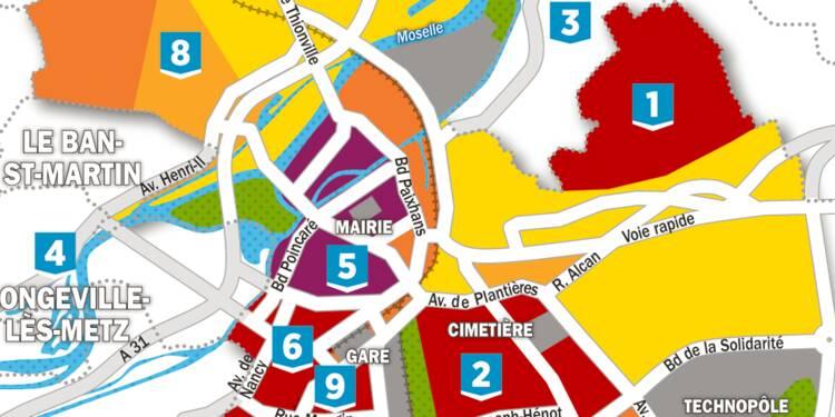 Immobilier : la carte des prix à Metz