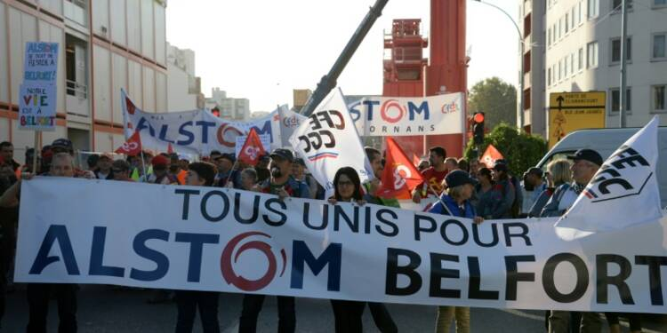 """Grève, manifestation: les salariés d'Alstom vont """"se battre"""" pour sauver Belfort"""