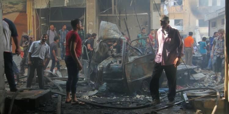 Des avions de combats visent Idlib en Syrie, au moins 58 morts