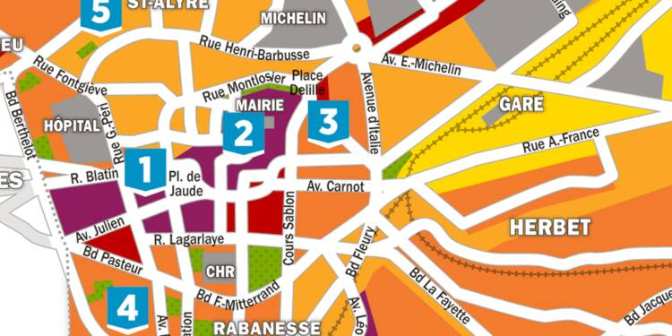 Immobilier : la carte des prix à Clermont-Ferrand