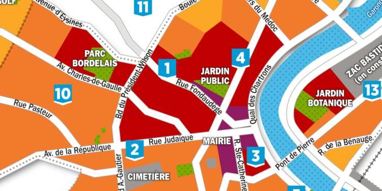 Immobilier : la carte des prix à Bordeaux