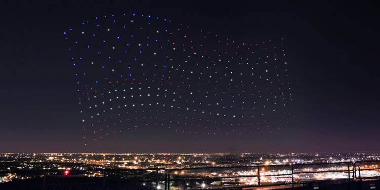 Lady Gaga : le ballet de drones Intel, l'autre performance du Super Bowl