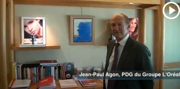 Dans le bureau de Jean-Paul Agon, P-DG de L'Oréal