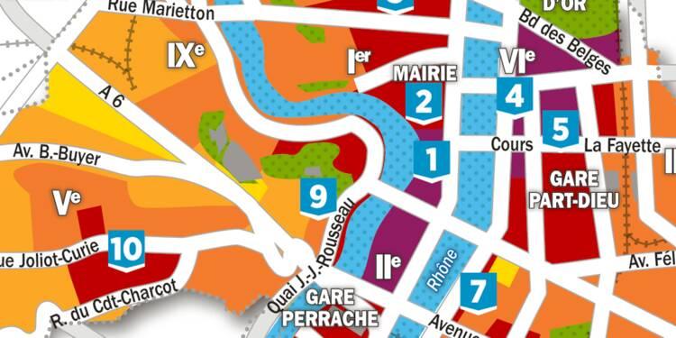 Immobilier : la carte des prix à Lyon