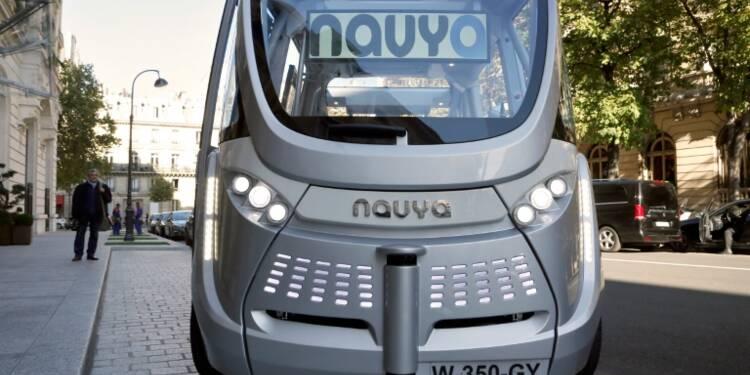Première mondiale à Lyon : un minibus sans chauffeur avec passagers