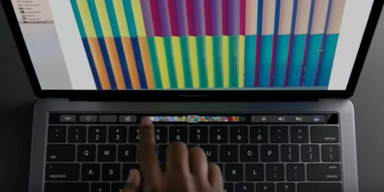 """Keynote : Apple dégaine une """"Touch Bar"""" pour son nouveau MacBook Pro"""