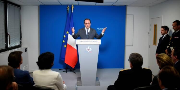 "L'objectif de 500.000 formations ""sera atteint"", dit Hollande"
