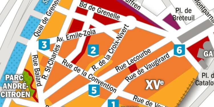 Immobilier : la carte des prix dans le 15ème arrondissement de Paris
