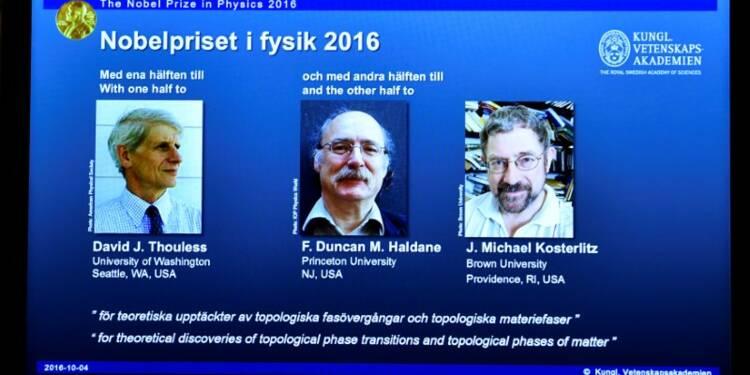 Le Nobel de physique pour trois chercheurs d'origine britannique