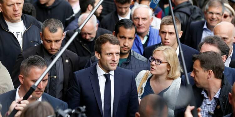 Macron l'emporterait avec 63% des voix contre Le Pen, selon un sondage Ifop-Fiducial