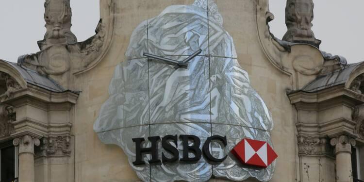 Le bénéfice 2016 d'HSBC en baisse de 62%, l'action chute