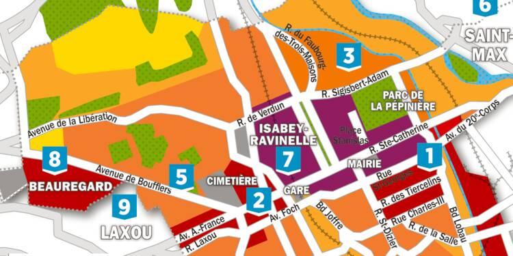 Immobilier : la carte des prix à Nancy