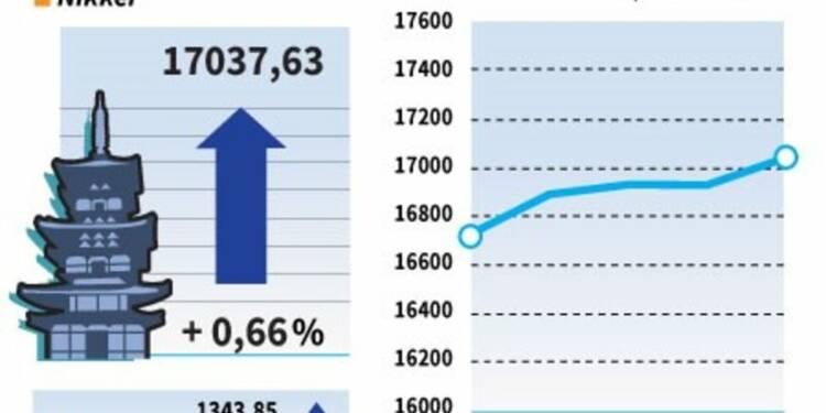 La Bourse de Tokyo à un plus haut de trois mois