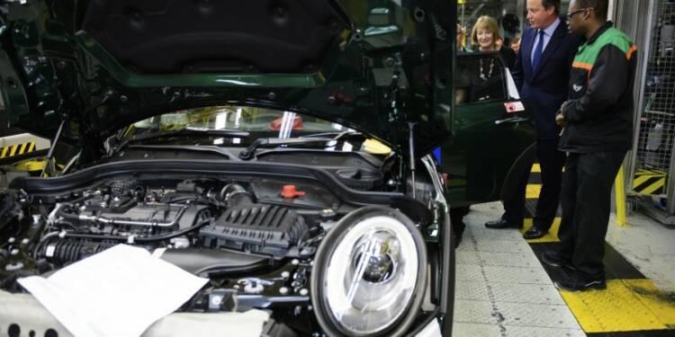 La production automobile britannique a atteint un pic de 17 ans