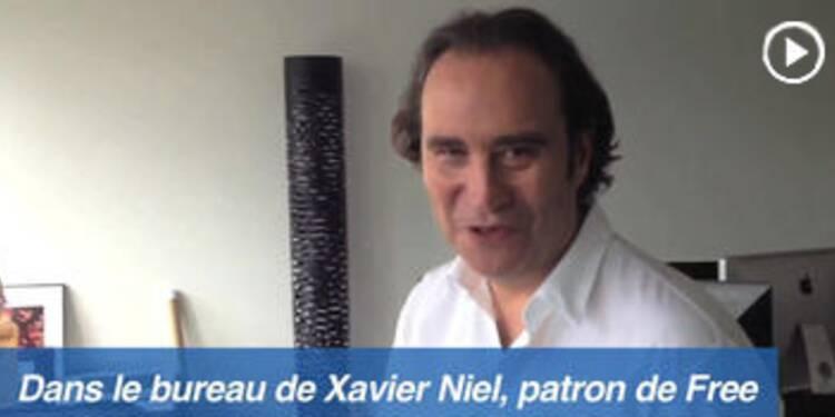 Le bureau de... Xavier Niel, patron de Free