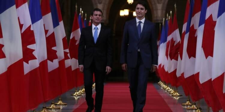 Trudeau et Valls défendent le libre-échange UE-Canada