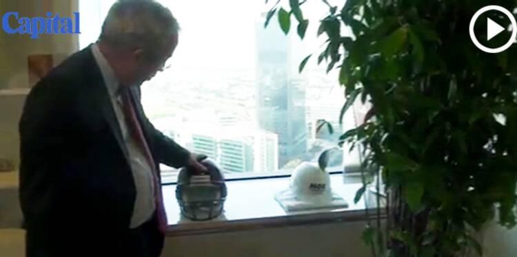 Dans le bureau de Luc Oursel, P-DG d'Areva