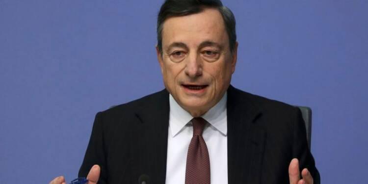 L'inflation dans la zone euro pas encore convaincante, selon Draghi