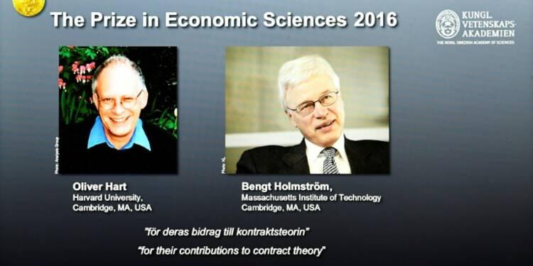 Le Nobel d'économie attribué à deux théoriciens du contrat