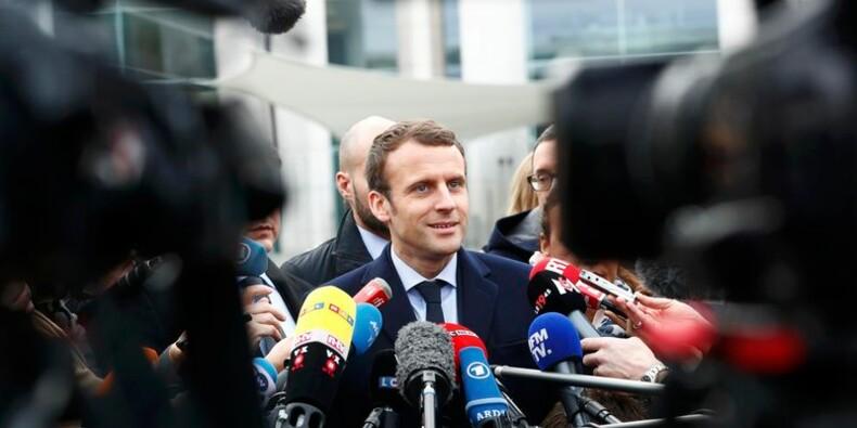 Macron se présente en champion de l'Europe à Berlin