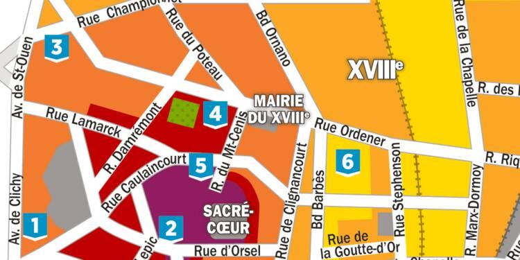 Immobilier : la carte des prix dans le 18ème arrondissement de Paris