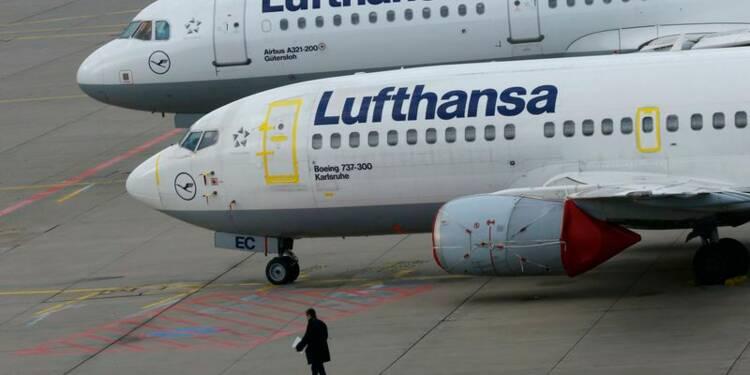 Lufthansa annule 1.706 vols en deux jours