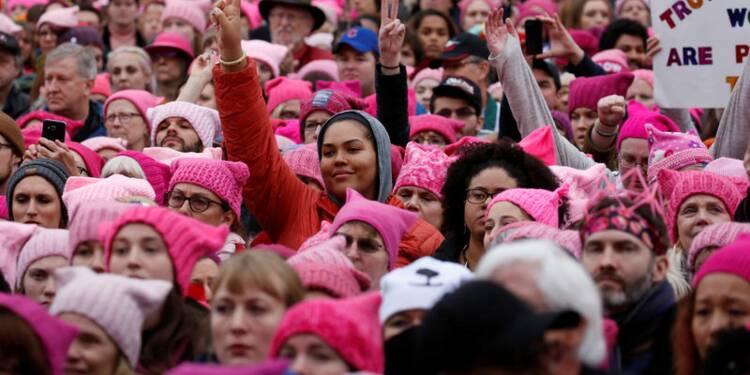 Des centaines de milliers de femmes manifestent contre Trump