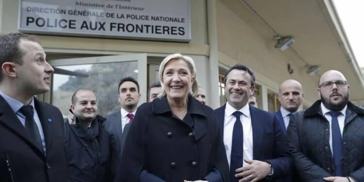 Le Pen devant Macron et Fillon selon les sondages